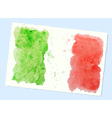 watercolor flag of Italy vector image