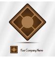 Wooden ceramic logo vector image vector image