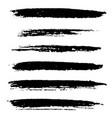 artistic brushes set vector image