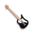 black blues guitar isolated icon vector image