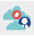 Social media multimedia icon online concept vector image