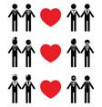 Gay man grooms icon set vector image
