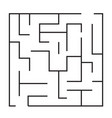 maze puzzle game icon maze square labyrinth on vector image