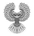 ornamental Owl ethnic zentangled mascot vector image