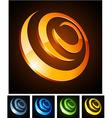 3d vibrant spirals vector image vector image