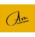 am initial handwriting handwritten logo