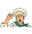 angry protesting cook union strike rally vector image vector image