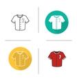 Baseball shirt icons vector image vector image