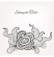 Black and white floral doodle card for Your design vector image vector image