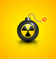 Black nuclear bomb vector image