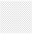 black seamless polka dots pattern vector image