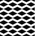Black white seamless rhombus pattern background vector image
