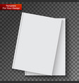 blank book cover on transparent background vector image