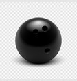 bowling ball isolated on a vector image