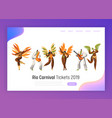 brazil carnival dancer character set woman dance vector image vector image