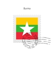 Burma Flag Postage Stamp vector image vector image