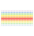 cancel shape halftone spectrum effect vector image vector image