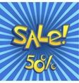 Cartoon Sale Offer vector image