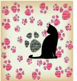 cat's paw seamless vector image vector image