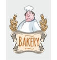 Chef baker label vector image vector image