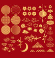 chinese new year elements festive asian ornaments vector image vector image