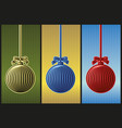 christmas ball in woodcut style vector image vector image