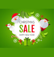 christmas sale season design template paper art vector image vector image