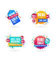 colorful sale label banner collection vector image