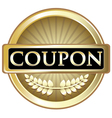 Coupon Gold Label vector image
