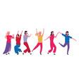 dancing people avatar vector image