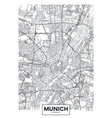 detailed poster city map munich vector image vector image