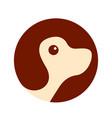 dog pet circle logo icon design vector image