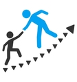 Education Progress Flat Symbol vector image vector image