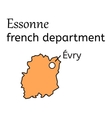 Essonne french department map vector image vector image