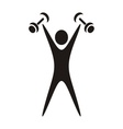 Exercising figure vector image