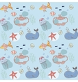 Fish nautical seamless pattern vector image vector image