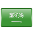 Flags Saudi Arabia in the form of a magnet on vector image vector image