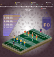 Football Stadium Playfield Side View vector image vector image
