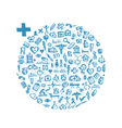 Frame with medical icons for your design vector image vector image
