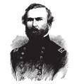 general george h thomas vintage vector image vector image