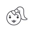 girl emoji concept line editable concept vector image vector image