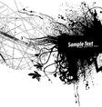 grunge frame background vector image vector image