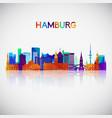 hamburg skyline silhouette vector image vector image