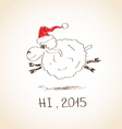 Happy New Year sheep 2015 vector image