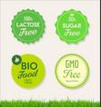 healthy natural food labels organic tags 2 vector image vector image
