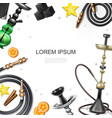 hookah colorful template vector image vector image