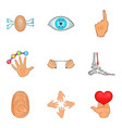 human shape icons set cartoon style vector image vector image