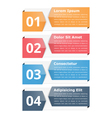 Infographic Objects with Numbers and Text vector image