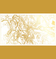 kigali rwanda city map in retro style in golden vector image vector image