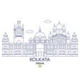 kolkata city skyline vector image vector image